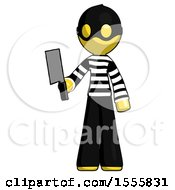 Yellow Thief Man Holding Meat Cleaver