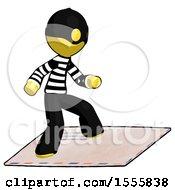 Yellow Thief Man On Postage Envelope Surfing