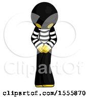 Yellow Thief Bending Over Hurt Or Nautious