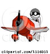 White Thief Man Flying In Geebee Stunt Plane Viewed From Below