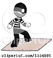 White Thief Man On Postage Envelope Surfing