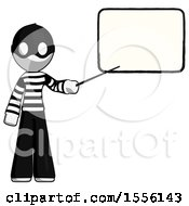 White Thief Man Giving Presentation In Front Of Dry Erase Board