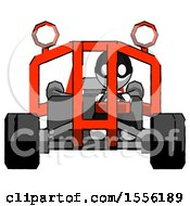 White Thief Man Riding Sports Buggy Front View