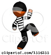 Orange Thief Man Kick Pose Start