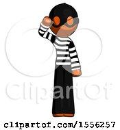 Poster, Art Print Of Orange Thief Man Soldier Salute Pose