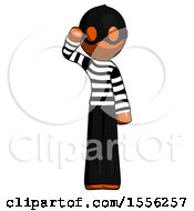 Orange Thief Man Soldier Salute Pose