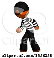 Orange Thief Man Suspense Action Pose Facing Left
