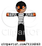 Orange Thief Man T Pose Arms Up Standing