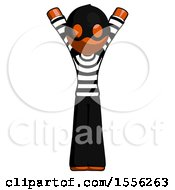 Orange Thief Man Hands Up