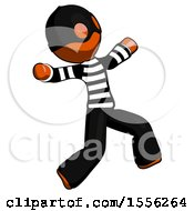 Orange Thief Man Running Away In Hysterical Panic Direction Right