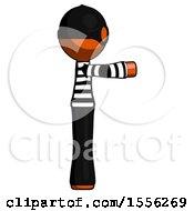 Orange Thief Man Pointing Right