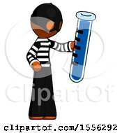 Orange Thief Man Holding Large Test Tube