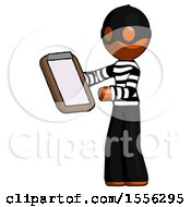 Orange Thief Man Reviewing Stuff On Clipboard