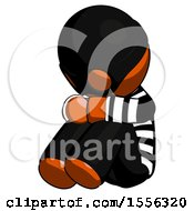 Orange Thief Man Sitting With Head Down Facing Angle Left