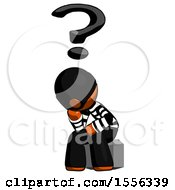 Orange Thief Man Thinker Question Mark Concept