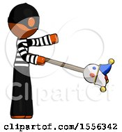 Orange Thief Man Holding Jesterstaff I Dub Thee Foolish Concept