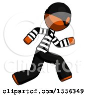 Poster, Art Print Of Orange Thief Man Running Fast Right