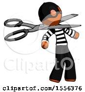 Orange Thief Man Scissor Beheading Office Worker Execution