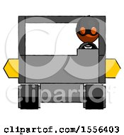 Poster, Art Print Of Orange Thief Man Driving Amphibious Tracked Vehicle Front View