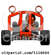 Poster, Art Print Of Orange Thief Man Riding Sports Buggy Front View