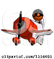 Orange Thief Man Flying In Geebee Stunt Plane Viewed From Below