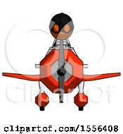 Orange Thief Man In Geebee Stunt Plane Front View