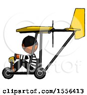 Poster, Art Print Of Orange Thief Man In Ultralight Aircraft Side View