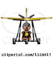 Poster, Art Print Of Orange Thief Man In Ultralight Aircraft Front View