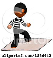 Orange Thief Man On Postage Envelope Surfing