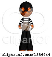 Poster, Art Print Of Orange Thief Man Giving Football To You