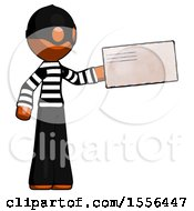 Orange Thief Man Holding Large Envelope