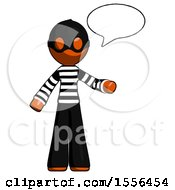 Orange Thief Man With Word Bubble Talking Chat Icon