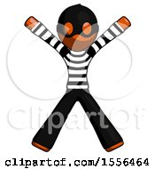 Orange Thief Man Jumping Or Flailing