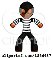 Orange Thief Male Sumo Wrestling Power Pose
