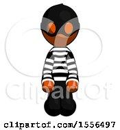 Orange Thief Man Kneeling Front Pose