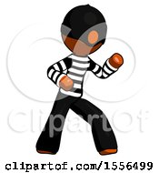Orange Thief Man Martial Arts Defense Pose Right