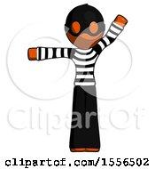 Orange Thief Man Directing Traffic Left
