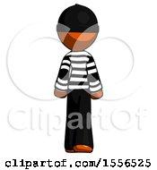 Poster, Art Print Of Orange Thief Man Walking Away Back View