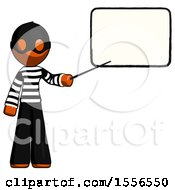 Poster, Art Print Of Orange Thief Man Giving Presentation In Front Of Dry-Erase Board