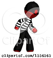 Red Thief Man Suspense Action Pose Facing Right