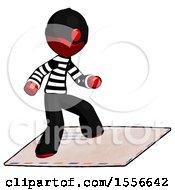 Red Thief Man On Postage Envelope Surfing