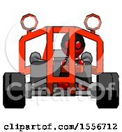 Red Thief Man Riding Sports Buggy Front View