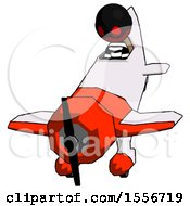 Red Thief Man In Geebee Stunt Plane Descending Front Angle View