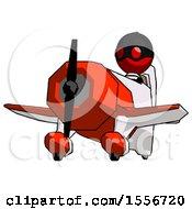 Red Thief Man Flying In Geebee Stunt Plane Viewed From Below