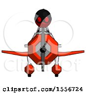 Red Thief Man In Geebee Stunt Plane Front View