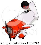 Red Thief Man In Geebee Stunt Plane Descending View
