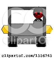 Red Thief Man Driving Amphibious Tracked Vehicle Front View