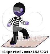 Purple Thief Man On Postage Envelope Surfing
