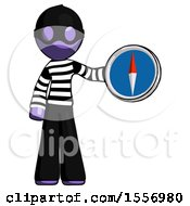 Purple Thief Man Holding A Large Compass