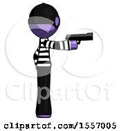 Purple Thief Man Firing A Handgun